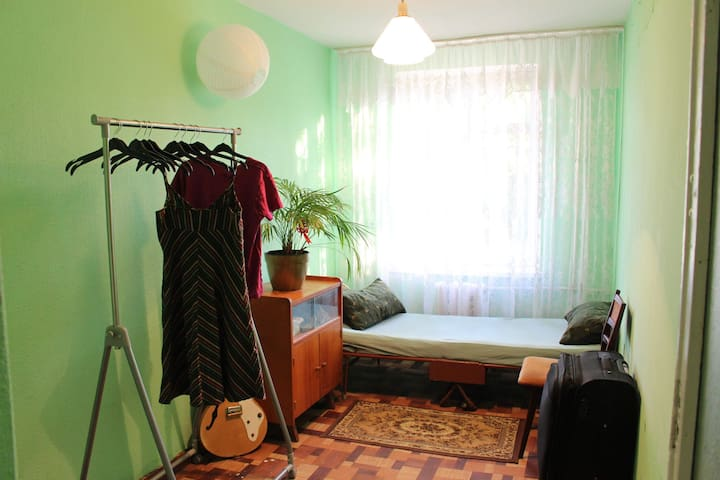 Room in a post soviet style) very comfortable.