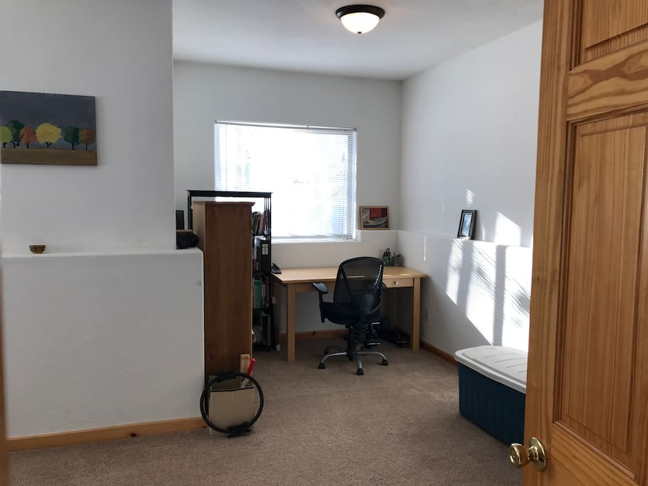 Office space in bedroom