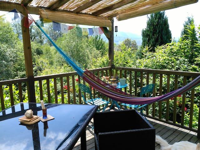 Chambre cosy avec vue sur les montagnes - Buzy - Casa