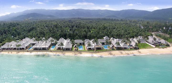 ⭐️⭐️⭐️⭐️⭐️ Beachfront Villa 3 BDR on Maenam Beach