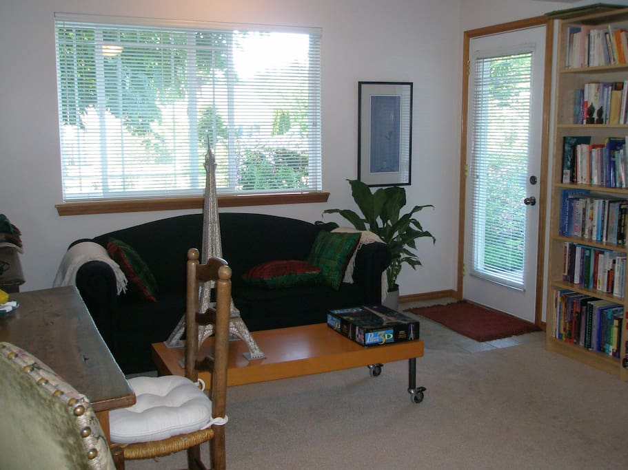 Quite family room - private entrance.