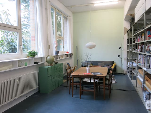 Spacious Artists LOFT with cat - Basel - Loft