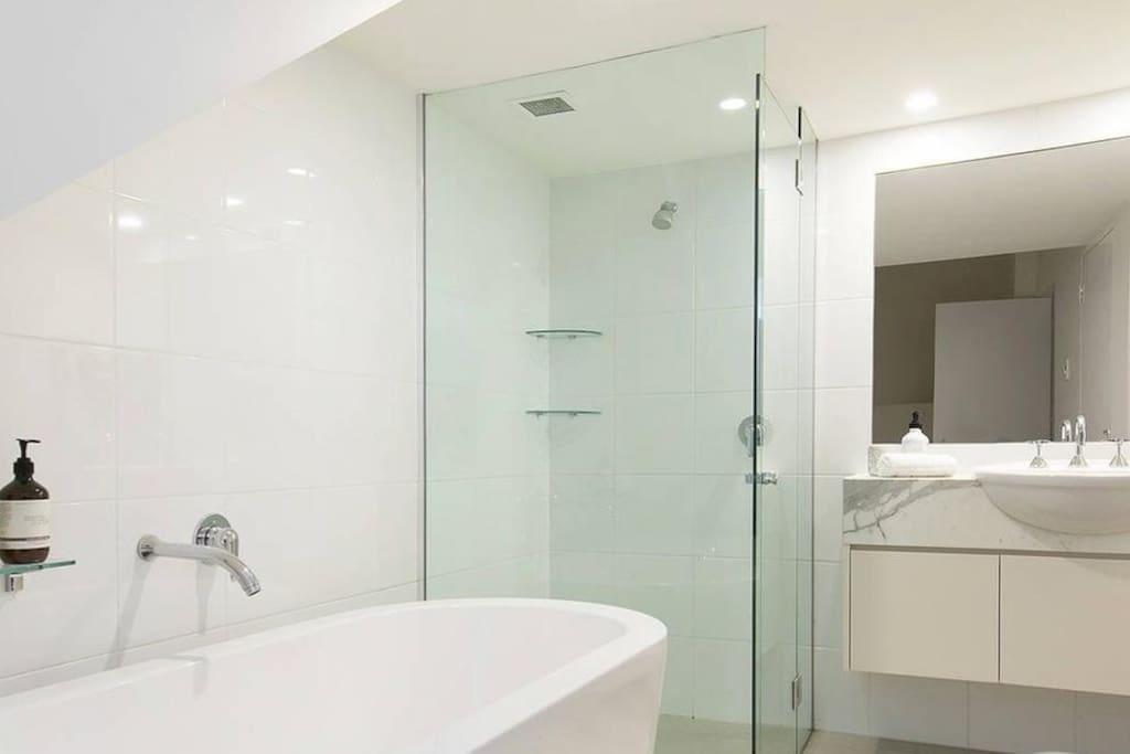 Guest bathroom with Bath
