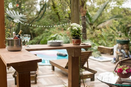 Big house, nature and beach.