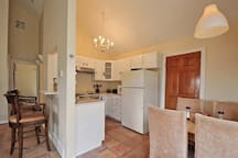 The dining areas & kitchen.
