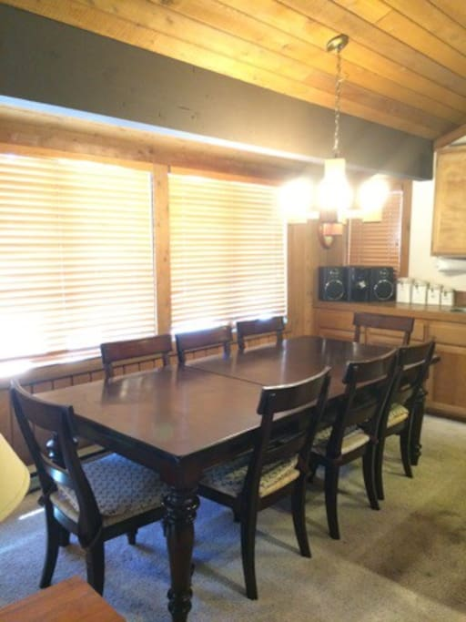 Dining area, plenty of seats for your family