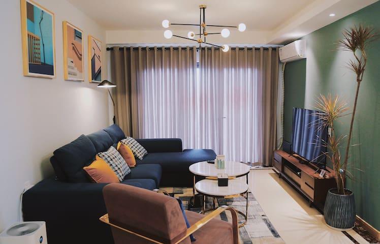 【里物】可长短租 现代北欧舒适精品城市民宿 新式小区房