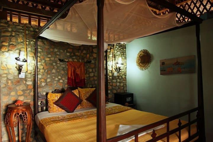 Maisons traditionnelles khmères