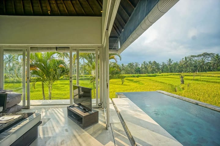 Romantic 2BR private villa with serenity view pool