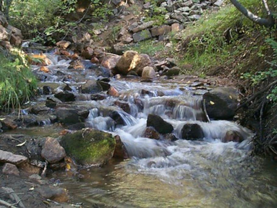 The Rio Chupadero runs through the property