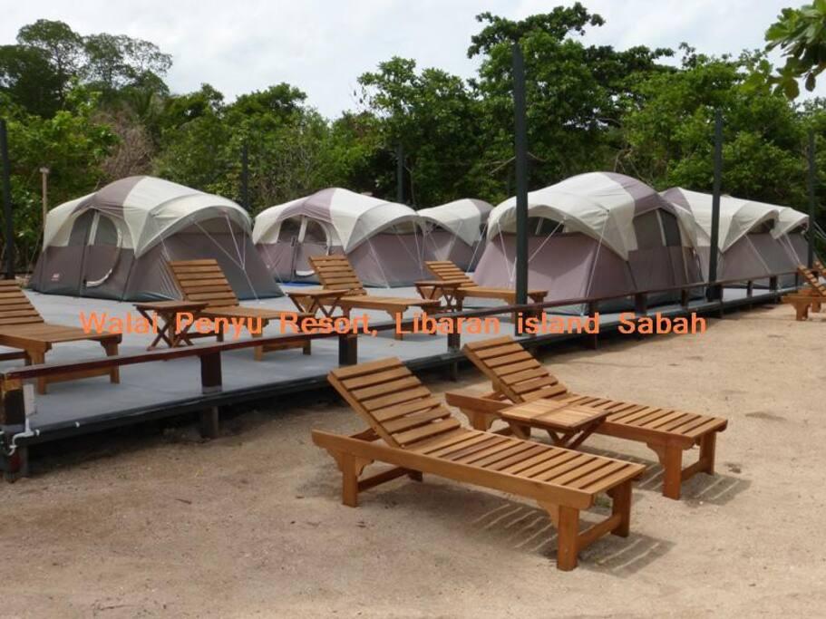 Camp area with seun deck