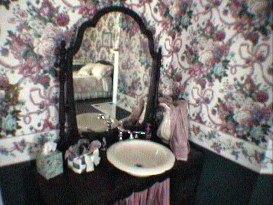 Zanie's Room - Private bath with tub shower unit