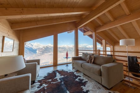 A TOP FLOOR WITH AMAZING VIEW JUST FOR YOURSELF... - Nendaz - Chalupa
