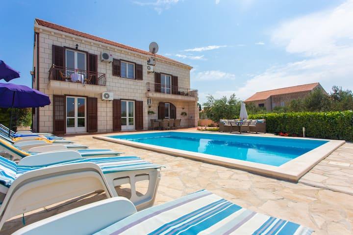 Villa Dobrasin with swimming pool