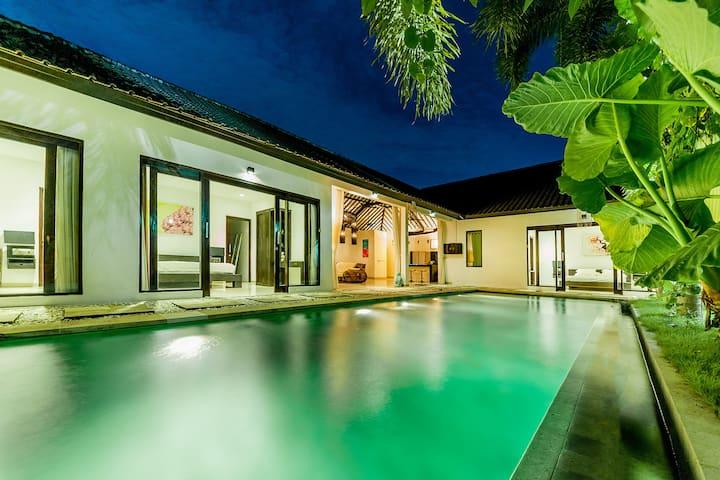 Modern and chic 3br pool villa in Seminyak/Oberoi