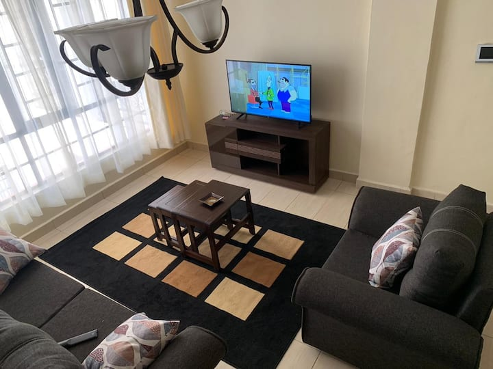 one bedroom tastefully furnished with amenities