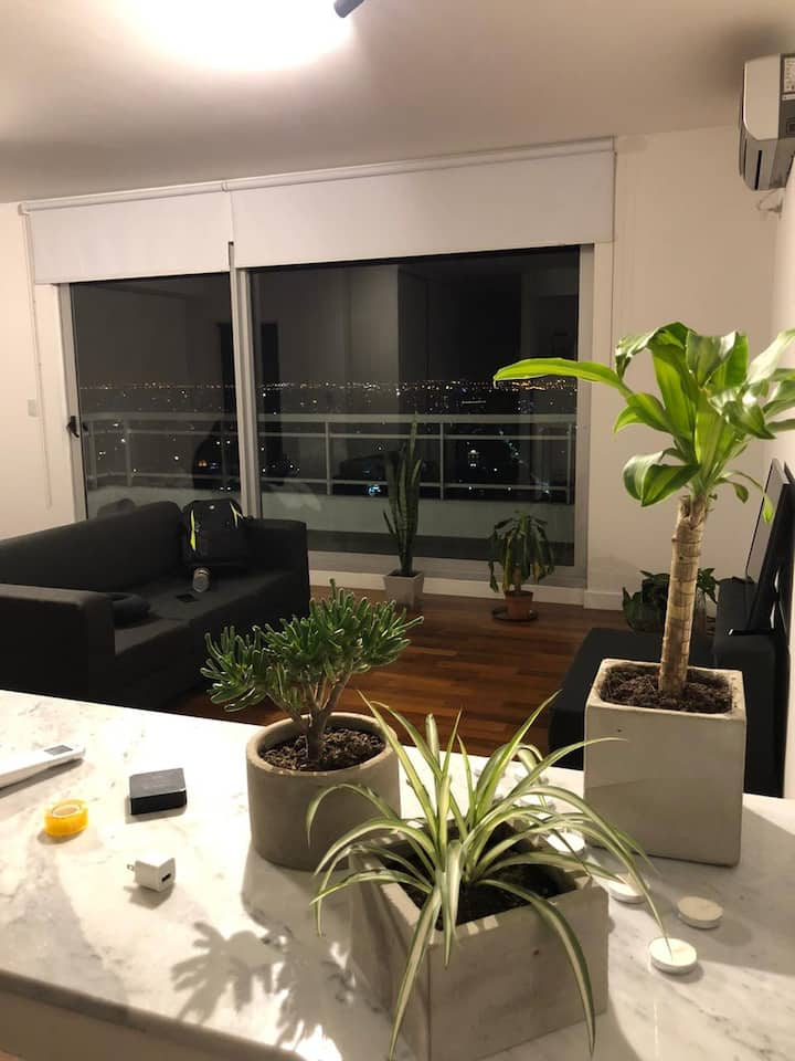 Loft/monoambiente con increíble vista a la ciudad