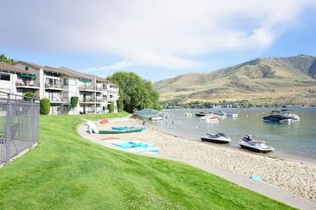 Steps to the Beach ~ Lakefront Condo at Spader Bay - 奇兰(Chelan) - 公寓