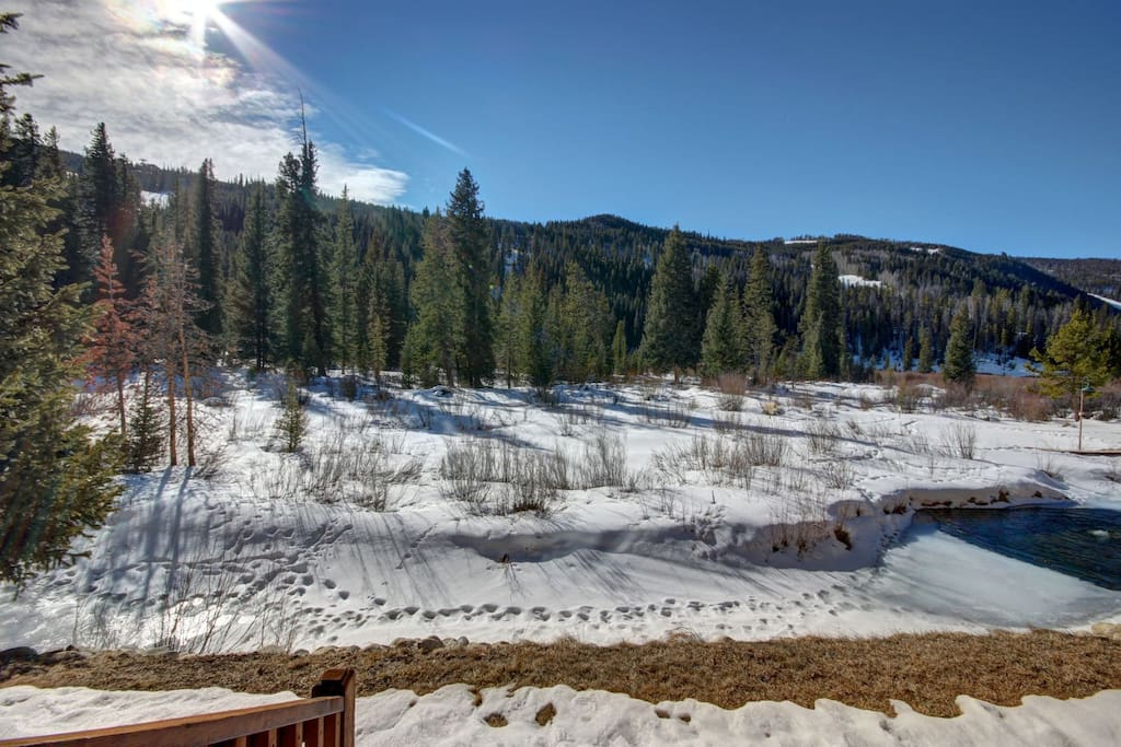 Unobstructed views of Keystone Mountain and wetlands