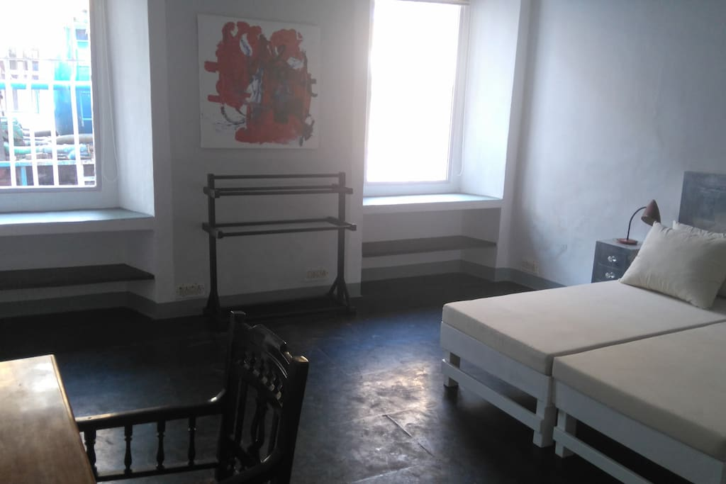 Bedroom 1 with 2 single beds which can be used for double bed