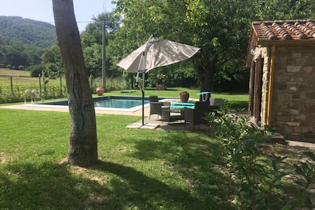 Lovely cottage on Tuscany border with private pool - Sant'Andrea di Sorbello - บ้าน