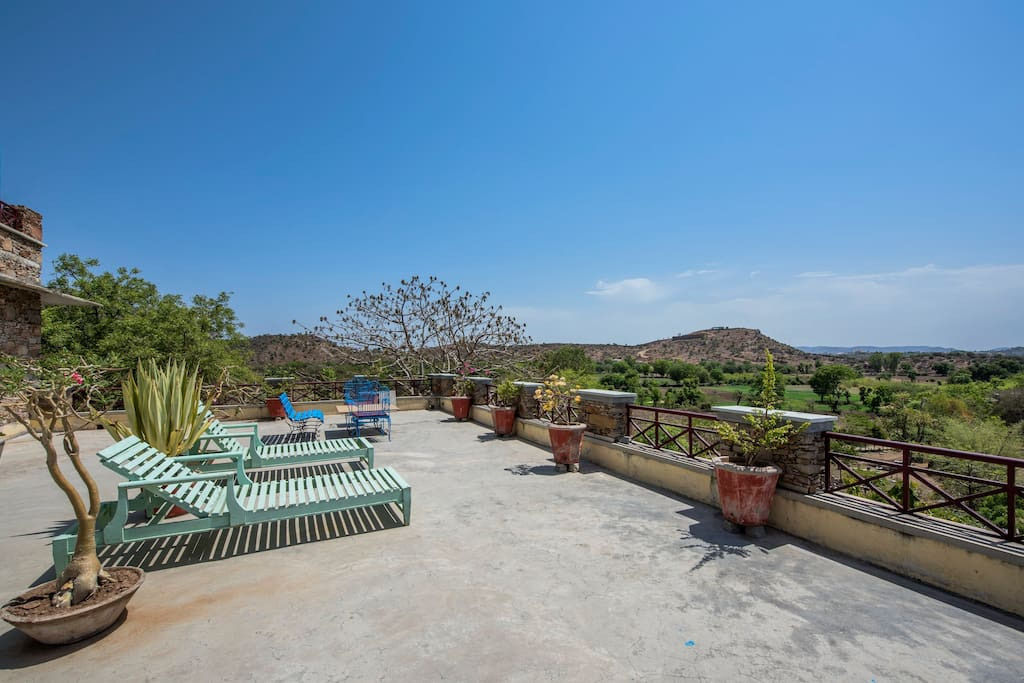 The sundeck and terrace