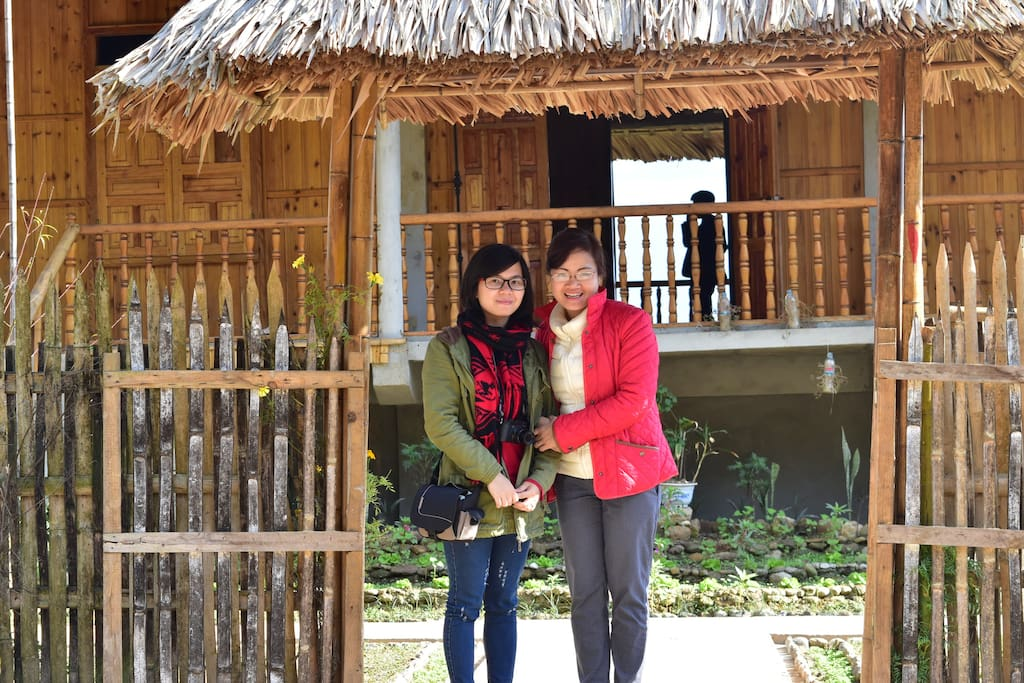 The front of Thong Nguyen homestay