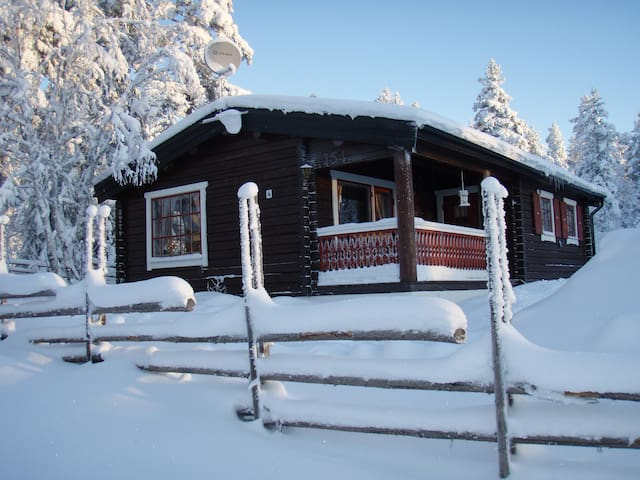 Cozy cabin, 6 beds, sauna, WiFi, fireplace, dwash.