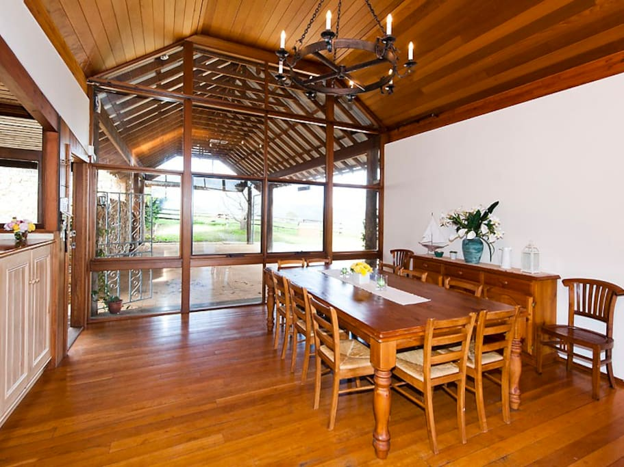 Large dining space,