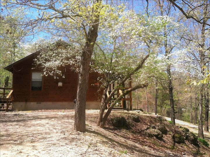 Country Cowboy Cabin, GIANT SPA TUB, Fireplace, Wooded, Tranquil, Near Eureka Springs / Kings River