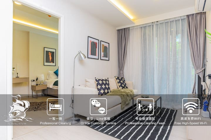 Chic Two Bed Apt For 5 ppl @ Thonglor / CityCenter