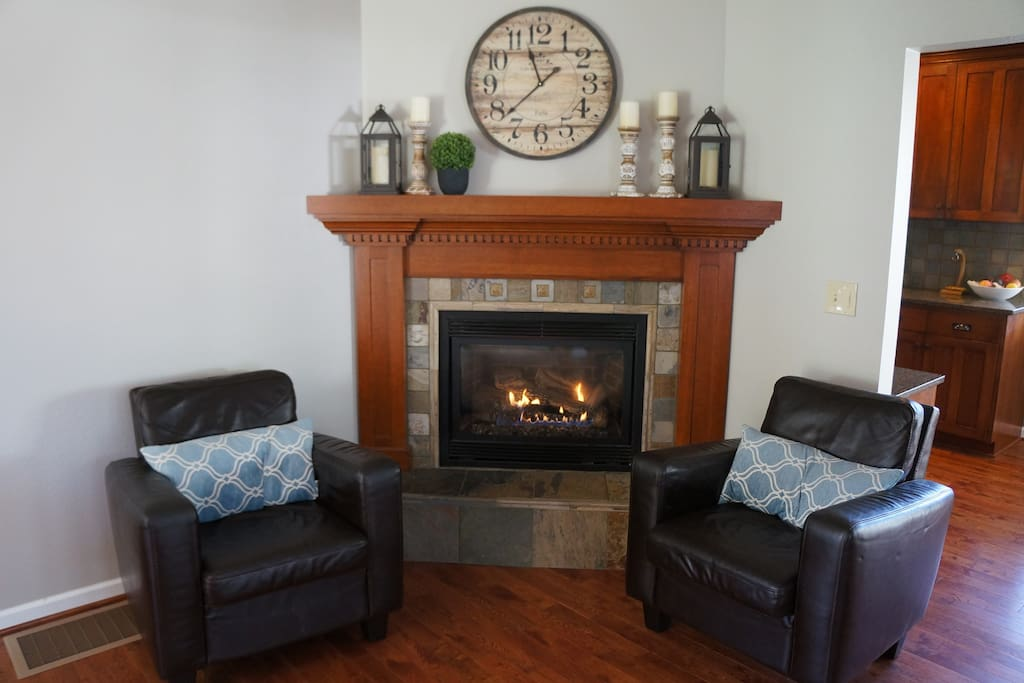 Living Room also has a gas fireplace for those colder days