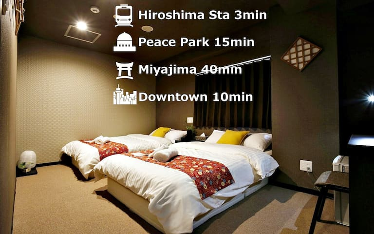 17☆Standard Twin Room with Shared Bathroom