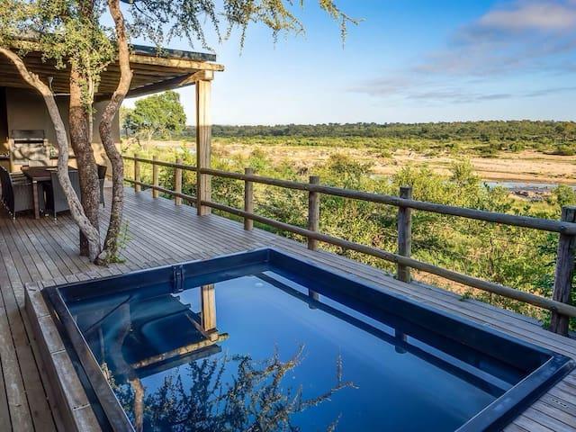 Mjejane River Chalet in Kruger National Park - Malelane - Chalé