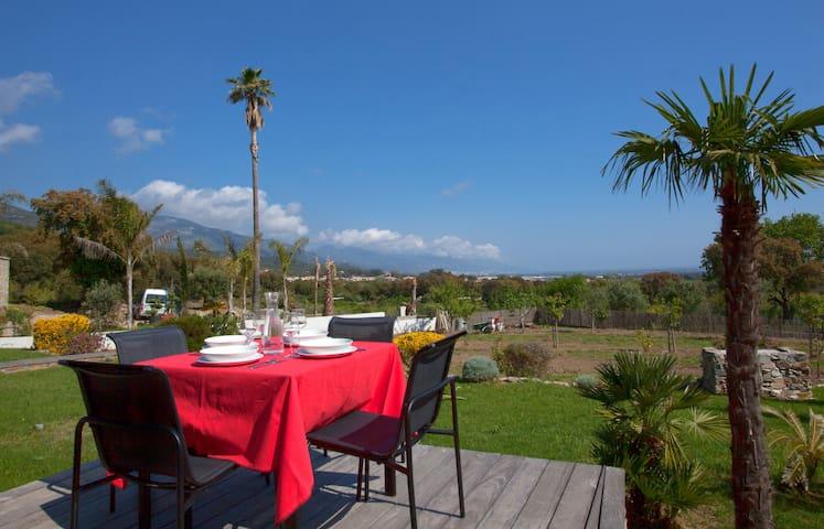 VILLA PROCHE-MAQUIS ET MER  - Borgo - House