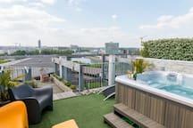 solarium sur les toits de Nantes