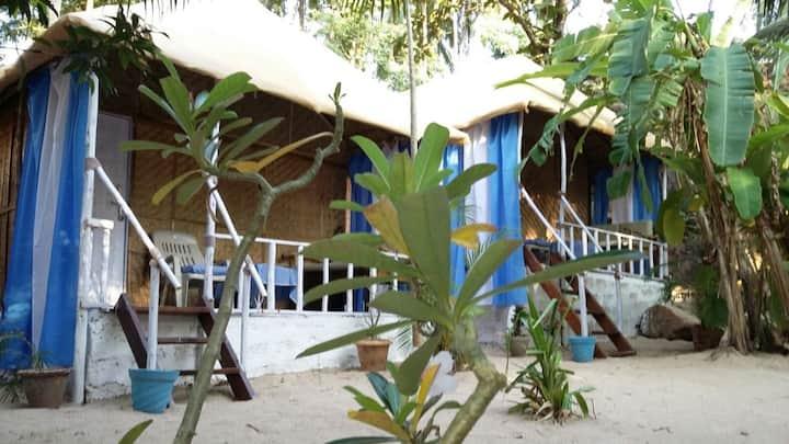 Lovely, clean huts at Chattai Palolem (Hut A)