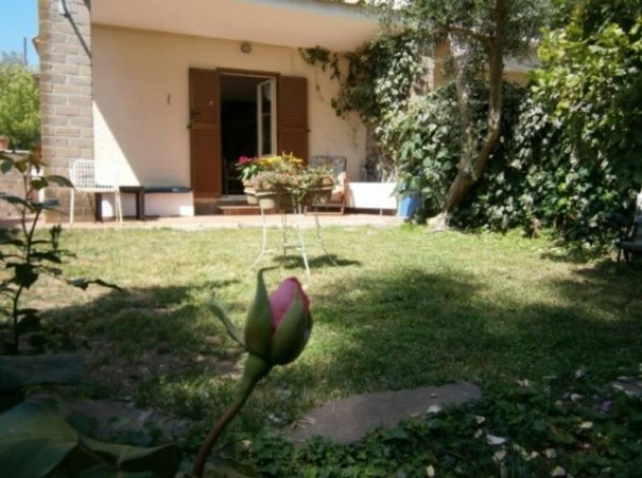 Casa con giardino fronte lago appartamenti in affitto a trevignano romano lazio italia - Casa con giardino milano ...