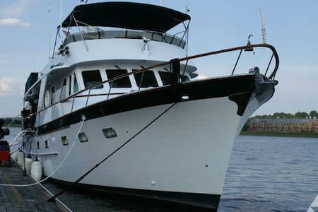 Motor Yacht as floating Hotel.