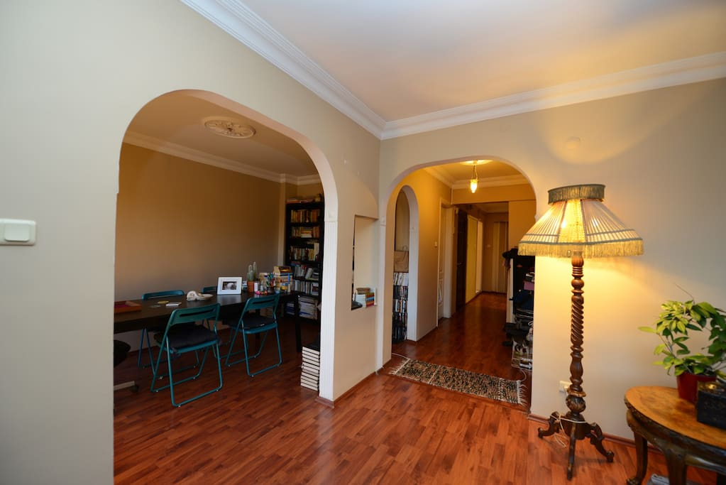 Entrance of living room and dinning room