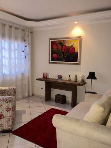 Suite casal em triplex cama queen/Santo Andre/SP