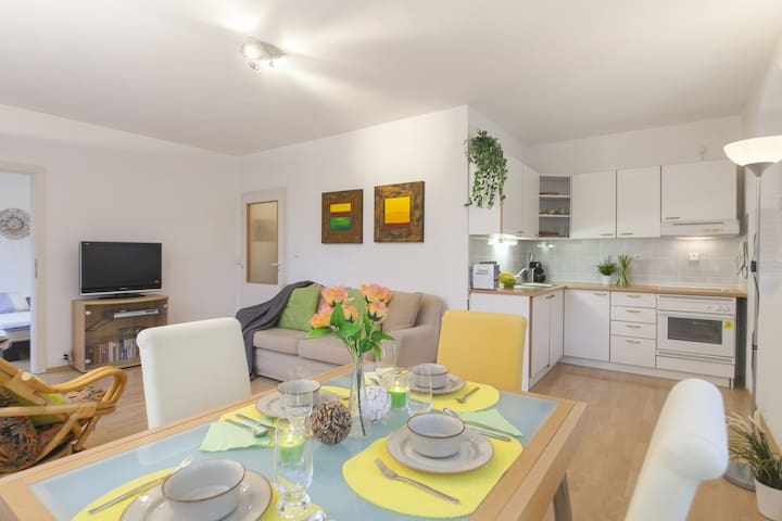 Sunny and friendly apartment,terrace,free parking - Prague - Apartment