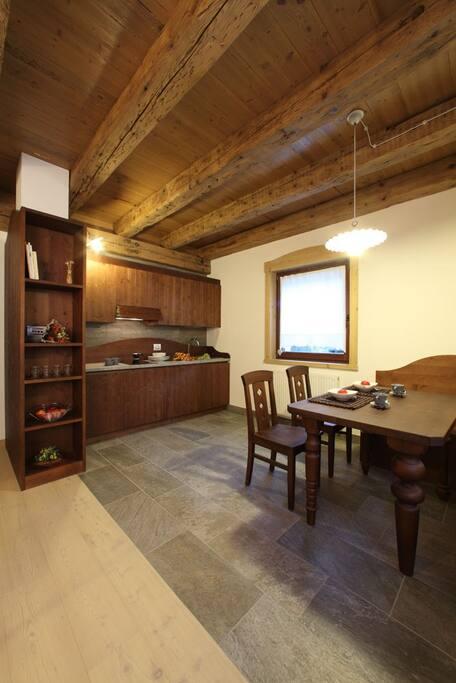 Appartamento Ricordi: cucina con soggiorno