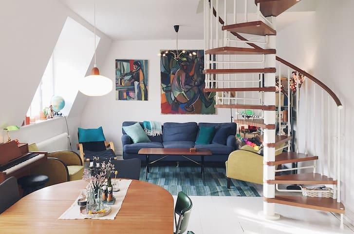 Unique loft apartment near metro