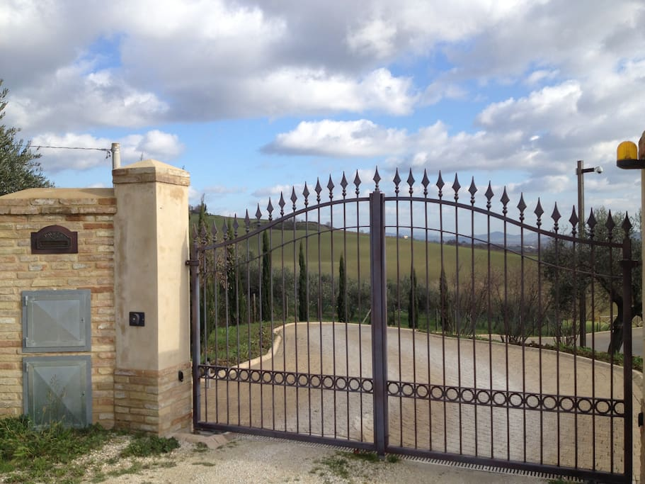Enter into remote control gated grounds