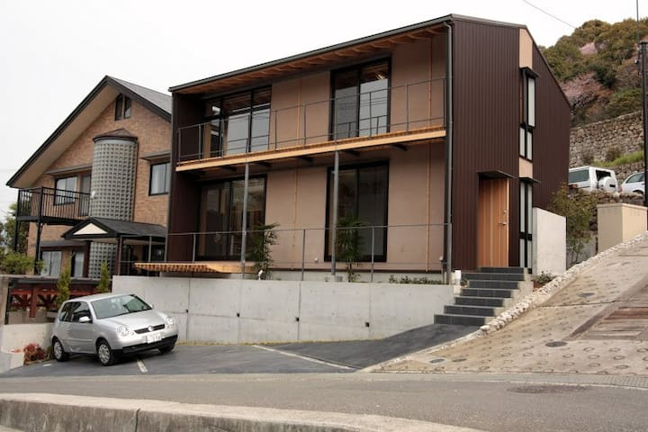 高台♪杉と檜と漆喰作り&蓄熱システム採用のエコハウス♪お風呂まで浄水 - Kōchi-shi - Casa