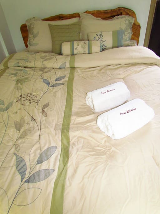 Fresh linens and towel