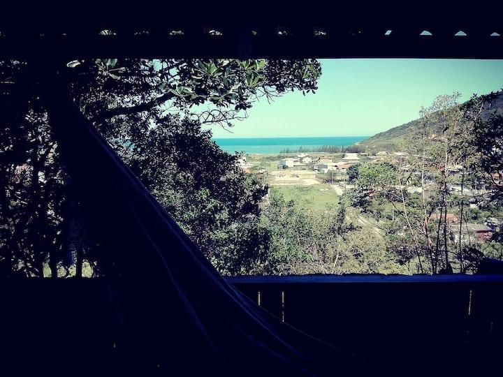 """CASITA RÚSTICA """"Camaleão"""" - con vista al mar -"""