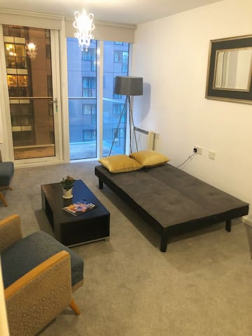 Sofa Bed in newly refurbished Canary Wharf flat