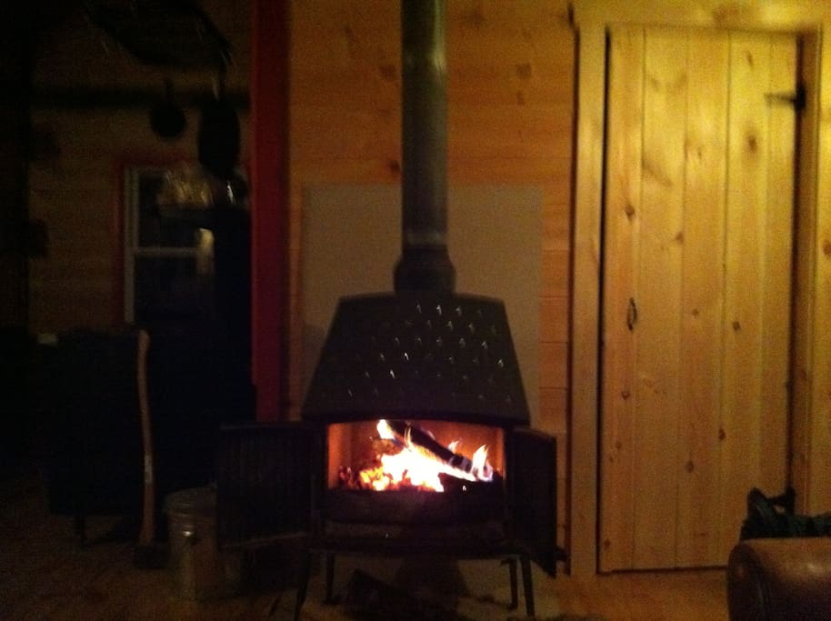 A fire for beauty and warmth on cool nights.